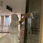 貿易センタービル内部施工写真