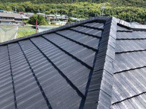 屋根の塗装後の写真